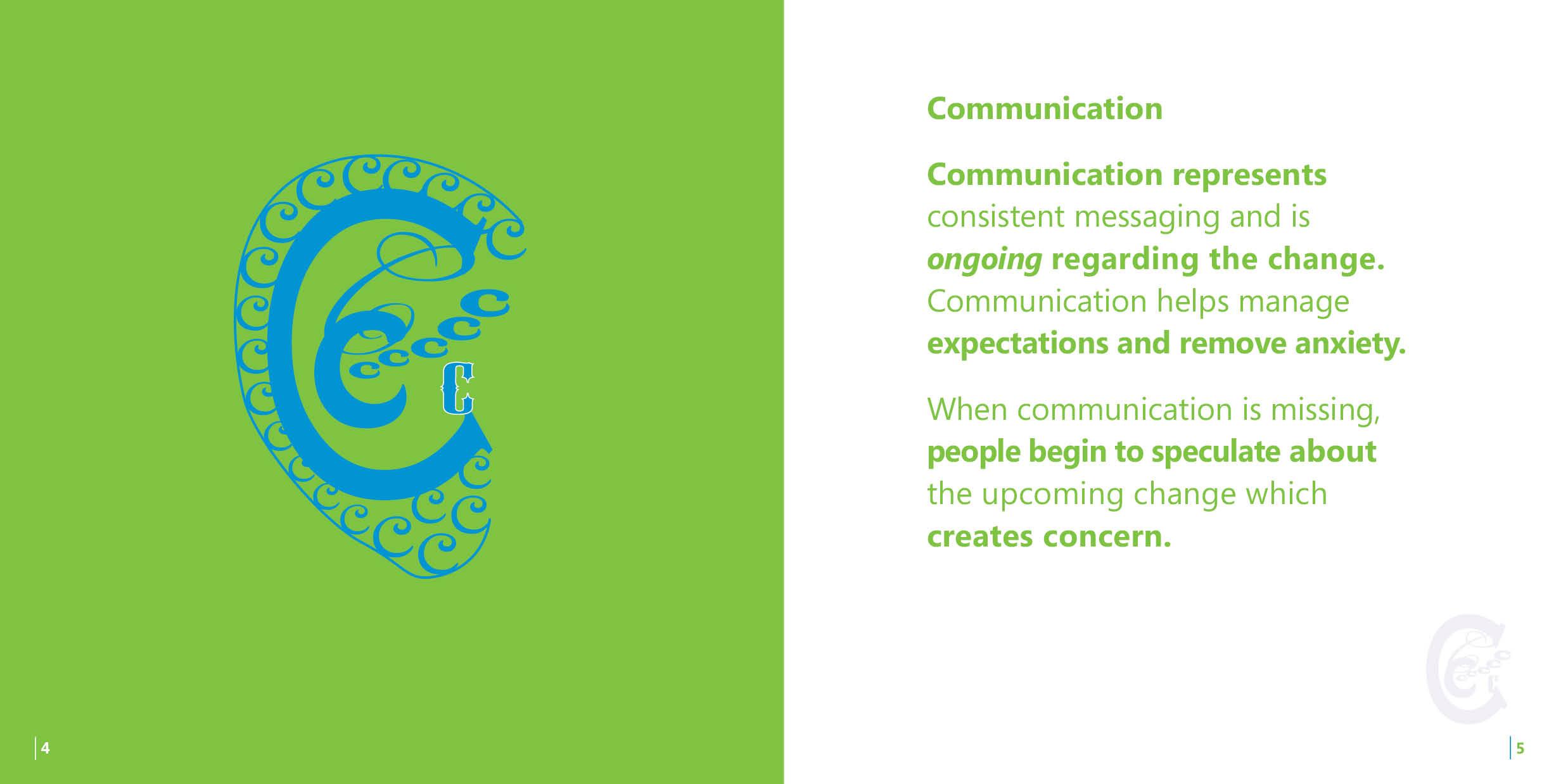 A Change Management Promotional booklet C
