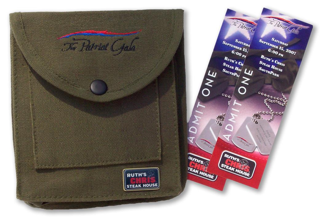 Patriot Charities Ticket Packaging