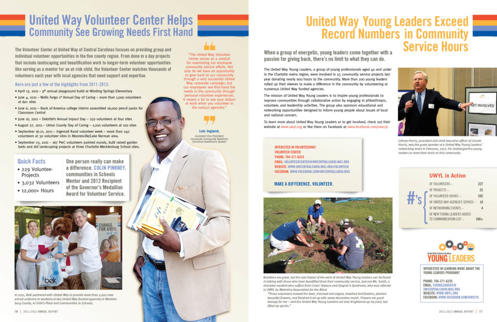 United Way Annual Report Inside inner pages